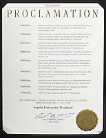 City of Seattle Proclamation: SU Weekend 2017