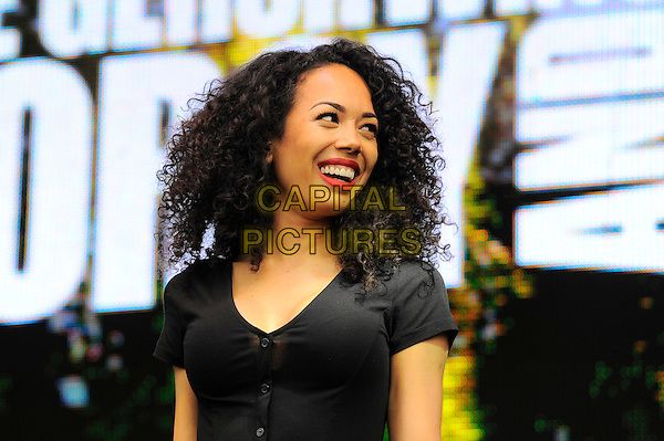 LONDON, ENGLAND - JUNE 21: Jade Ewen performs at West End Live, Trafalgar Square on June 21, 2014 in London, England.<br /> CAP/MAR<br /> &copy; Martin Harris/Capital Pictures