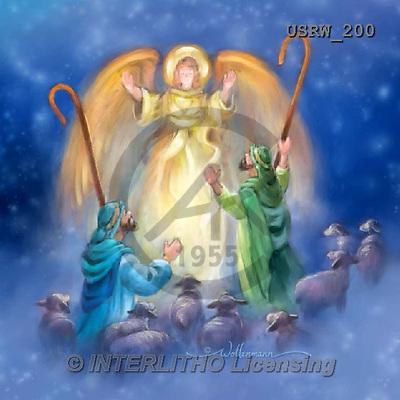 Randy, HOLY FAMILIES, HEILIGE FAMILIE, SAGRADA FAMÍLIA, paintings+++++Watercolor-Angel-and-Shepherds,USRW200,#xr#