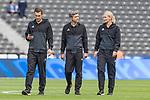 10.09.2017, Olympiastadion, Berlin, GER, 1.FBL, Hertha BSC vs SV Werder Bremen<br /> <br /> im Bild<br /> Christof G&uuml;nsch (Schiedsrichter-Asstent / SR-A. 1), Thomas Stein (Schiedsrichter-Asstent / SR-A. 2), Bibiana Steinhaus (Schiedsrichterin / referee), <br /> <br /> Foto &copy; nordphoto / Ewert