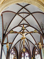 Triumphkreuz in gotische Gotische Kirche St. &Auml;gidius-bazilika sv.Egidia, Bardejov, Presovsky kraj, Slowakei, Europa, UNESCO-Weltkulturerbe<br /> Triumphal cross in gothic church St. &Auml;gidius-bazilika sv.Egidia, Bardejov, Presovsky kraj, Slovakia, Europe, UNESCO-world heritage