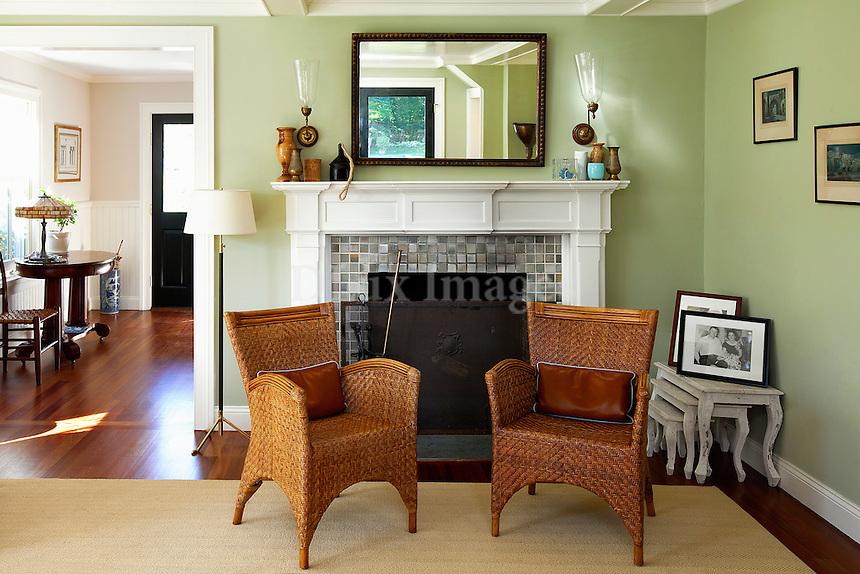 rattan armchairs
