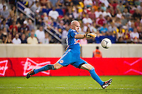 New York Red Bulls goalkeeper Bill Gaudette (88). The New York Red Bulls defeated the Houston Dynamo 2-0 during a Major League Soccer (MLS) match at Red Bull Arena in Harrison, NJ, on August 10, 2012.