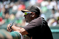 San Francisco Giants Defensive Coordinator Jose Alguacil during the game between the Fresno Grizzlies and the Salt Lake Bees in Pacific Coast League action at Smith's Ballpark on May 26, 2014 in Salt Lake City, Utah.  (Stephen Smith/Four Seam Images)