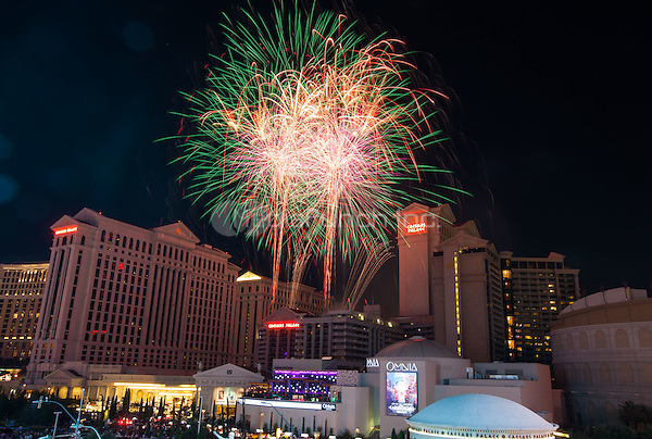 LAS VEGAS, NV - July 4: July 4th fireworks display at Caesars Palace in Las Vegas, NV on July 4, 2015. Credit: Erik Kabik Photography/ MediaPunch ***HOUSE COVERAGE***