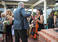 Occidental College alumni gather at the 2016 Alumni Seal Award Presentations and Honored Guest Reception during Alumni Reunion Weekend, June 10, 2016.<br /> (Photo by Marc Campos, Occidental College Photographer)