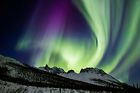 Aurora and Mountains