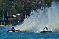 "(L to R):Nicky Pellerin, A-60 ""Mr. Bud"", 2.5 Mod hydroplane and Jim Aid, A-33 ""In Cahoots Again"", 2.5 Mod class hydroplane"