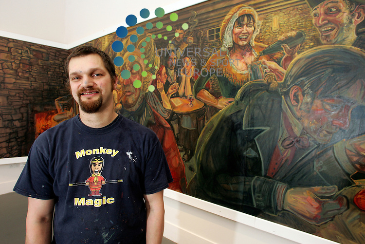 The Mural of Tam O'Shanter poem in the new Burns Museum in Alloway Painted by Artist Christopher Rutterford. The serving wench in the painting is of Lorraine Kelly. Picture: Universal News and Sport (Europe)17/10/2011