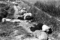 Korean civilians fleeing from the North Korean forces, killed when caught in the line of fire during night attack by guerrilla forces near Yongsan.  August 25, 1950.  Cpl. Ingram. (Army)<br /> NARA FILE #:  111-SC-347020<br /> WAR &amp; CONFLICT BOOK #:  1507