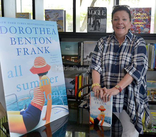 "CORAL GABLES, FL - JUNE 09: Author Dorothea Benton Frank signs copies of her new book "" All Summer Long '' at Books and Books on June 9, 2016 in Coral Gables, Florida.  Credit: MPI10 / MediaPunch"