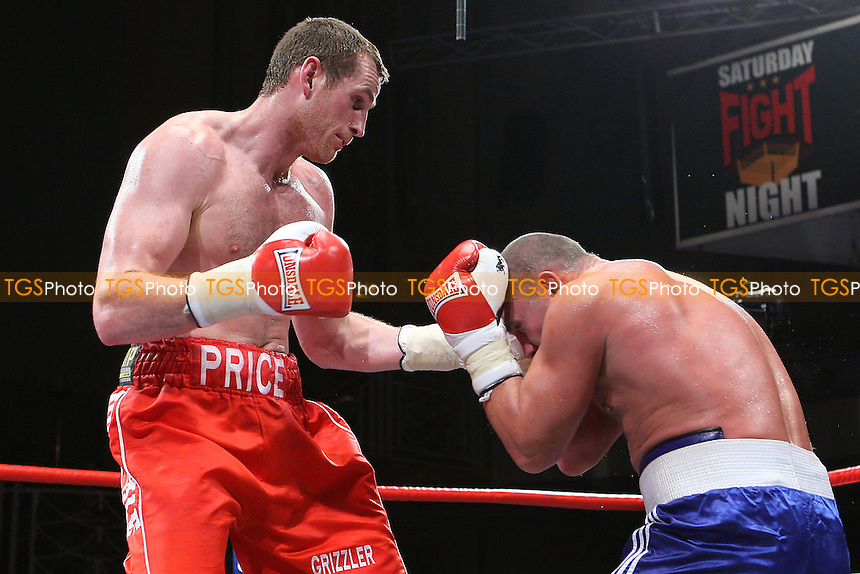 David Price (red shorts) defeats Raman Sukhaterin in a Heavyweight boxing contest at the Troxy, Limehouse, promoted by Frank Maloney - 16/10/10 - MANDATORY CREDIT: Gavin Ellis/TGSPHOTO - Self billing applies where appropriate - Tel: 0845 094 6026