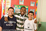 Education Elementary school mixed ages afterschool program for intellectually gifted students group of male students posing horizontal