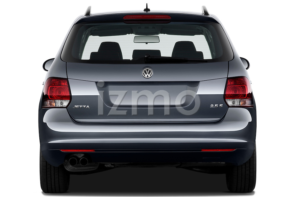 Straight rear view of a 2010 Volkswagen Jetta SportWagen S