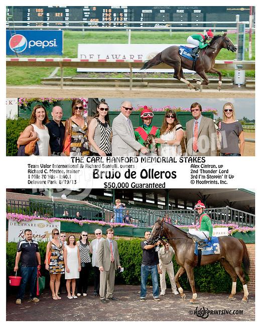 Brujo de Olleros winning The Carl Hanford Memorial Stakes at Delaware Park on 8/19/13