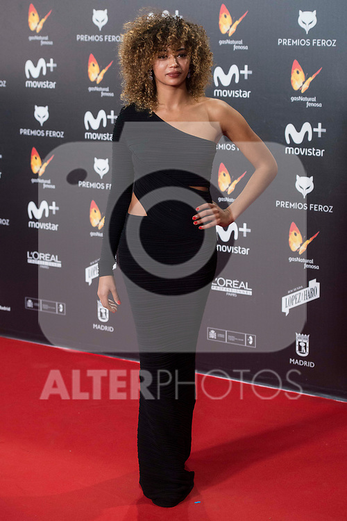 Berta Vazquez attends red carpet of Feroz Awards 2018 at Magarinos Complex in Madrid, Spain. January 22, 2018. (ALTERPHOTOS/Borja B.Hojas)
