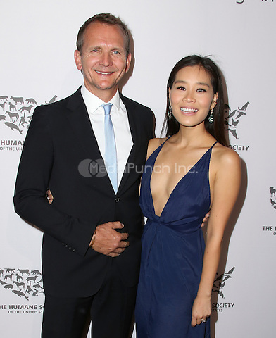 HOLLYWOOD, CA - MAY 07: Alicia Hannah, Sebastian Roche attends The Humane Society of the United States' to the Rescue Gala at Paramount Studios on May 7, 2016 in Hollywood, California. Credit: Parisa/MediaPunch.