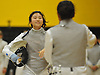 Esther Jung of Commack, left, shakes hands with Jeslie Pineda after their foil bout in a girls fencing match at Commack High School on Friday, Dec. 2, 2016.
