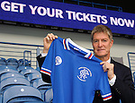 Richard Gough promotes the Legends match with a special retro strip