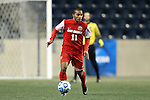 13 December 2013: New Mexico's Michael Calderon (CRC). The University of Notre Dame Fighting Irish played the University of New Mexico Lobos at PPL Park in Chester, Pennsylvania in a 2013 NCAA Division I Men's College Cup semifinal match. Notre Dame won the game 2-0.