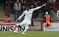 Jamal Blackman (GK) of Wycombe Wanderers during the Sky Bet League 2 match between Morecambe and Wycombe Wanderers at the Globe Arena, Morecambe, England on 29 April 2017. Photo by Stephen Gaunt / PRiME Media Images.