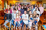 Baby Fiadh McGrath from Kilflynn, christening party in Stokers Lodge on Saturday.<br /> Seated l to r: Daniel Moriarty (GF), Brandon Moriarty (GF) and Megan Moriarty, Saoirse, Chris and Fiadh McGrath, Tara Sheehy (GM), Siadhbh Sheehy, Rebecca Moriarty (GM) and Issac Moriarty.
