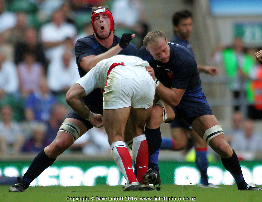 .England v France. International Rugby Union. Twickenham, London, England. Saturday 11 August 2007. Photo: Dave Lintott/PHOTOSPORT