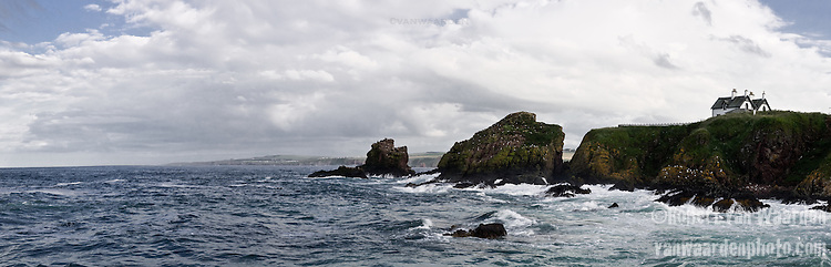 Coast line panorama of Scotland
