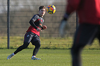 Daniel James in action during the Swansea City Training at The Fairwood Training Ground, Swansea, Wales, UK. Thursday 11 January 2018