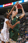 SIOUX FALLS, SD - MARCH 6:  SIOUX FALLS, SD - MARCH 6:  Paul Miller #2 of North Dakota State shoots into the hand of Jordan Pickett #4 of IUPUI in the 2016 Summit League Tournament.  (Photo by Dick Carlson/Inertia)(Photo by Dick Carlson/Inertia)