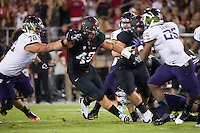 Stanford, CA -- October 5, 2013:  Stanford plays Washington at Stanford Stadium. Stanford defeated the Huskies 31-28.