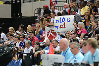 A Fan Sign during the EuroBasket 2015 2nd Qualifying Round Great Britain v Bosnia & Herzegovina (Euro Basket 2nd Qualifying Round) at Copper Box Arena in London. - 13/08/2014