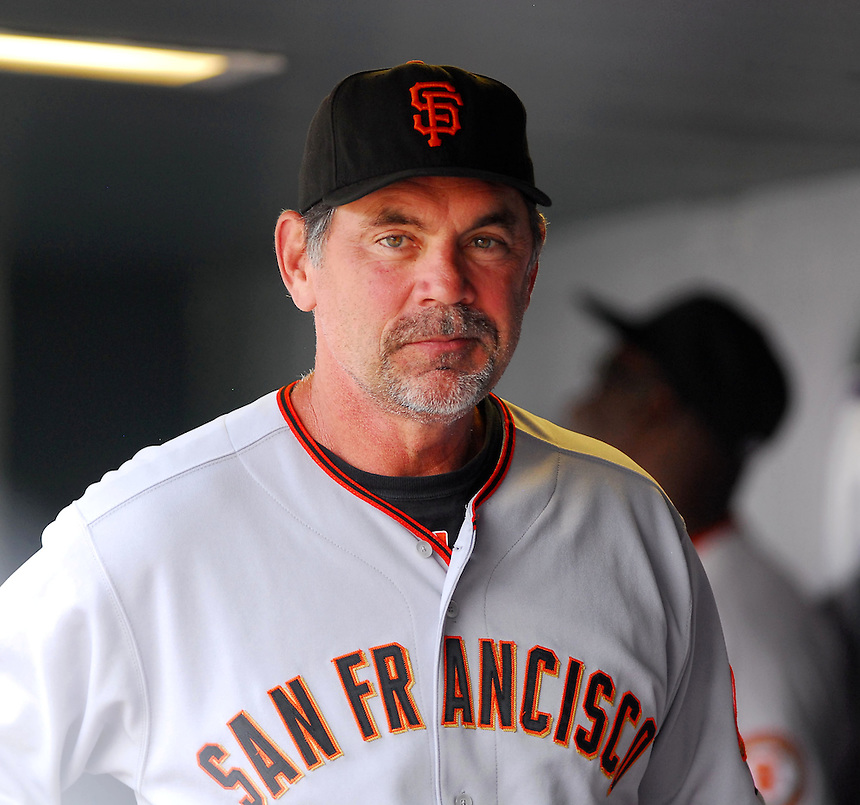 August 23, 2009: Giants manager and 2009 National League Manager of the Year candidate Bruce Bochy during a regular season game between the San Francisco Giants and the Colorado Rockies at Coors Field in Denver, Colorado. The Rockies beat the Giants 4-2. *****For editorial use only*****
