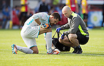 Partick Thistle v St Johnstone&hellip;10.09.16..  Firhill  SPFL<br />Tomas Cerny injures his foot and goes off injured<br />Picture by Graeme Hart.<br />Copyright Perthshire Picture Agency<br />Tel: 01738 623350  Mobile: 07990 594431