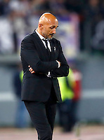 Calcio, Europa League, Gguppo E: Roma vs Austria Vienna. Roma, stadio Olimpico, 20 ottobre 2016.<br /> Roma's coach Luciano Spalletti reacts during the Europa League Group E soccer match between Roma and Austria Wien, at Rome's Olympic stadium, 20 October 2016. The game ended 3-3.<br /> UPDATE IMAGES PRESS/Isabella Bonotto