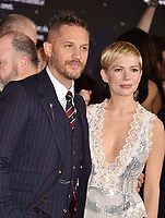 WESTWOOD, CA - OCTOBER 01: Tom Hardy and Michelle Williams attend the Premiere Of Columbia Pictures' 'Venom' at Regency Village Theatre on October 1, 2018 in Westwood, California.<br /> CAP/ROT/TM<br /> ©TM/ROT/Capital Pictures