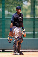 7-25-2009: Jhorge Liccien of the Gulf Coast League Yankess during the game in Orlando, Florida. The GCL Yankees are the Rookie League affiliate of the New York Yankees. Photo By Scott Jontes/Four Seam Images