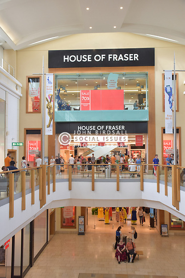 House of Fraser, Chapelfield shopping centre, Norwich UK. They recently announced that 31 stores will be closing but this one is safe. July 2018