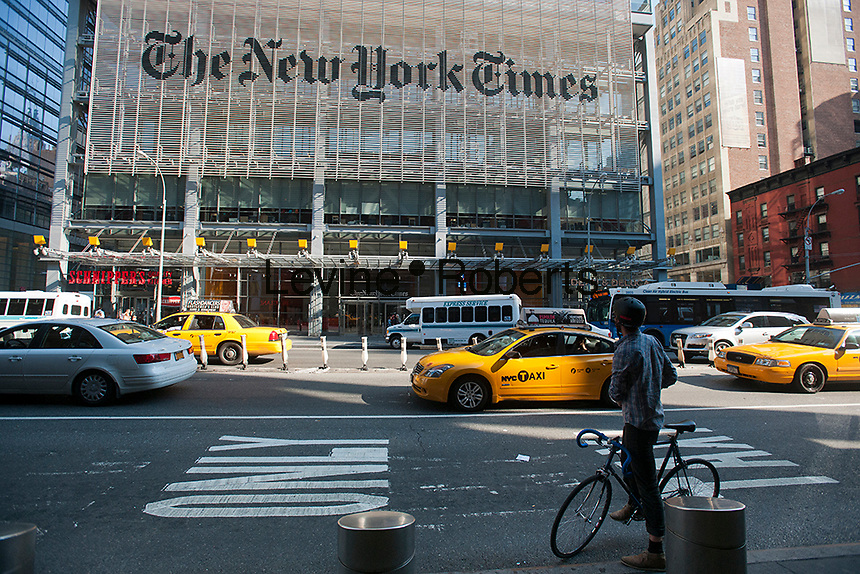 The offices of the the New York Times in Midtown in New York on Friday, October 5, 2012.  (© Richard B. Levine)