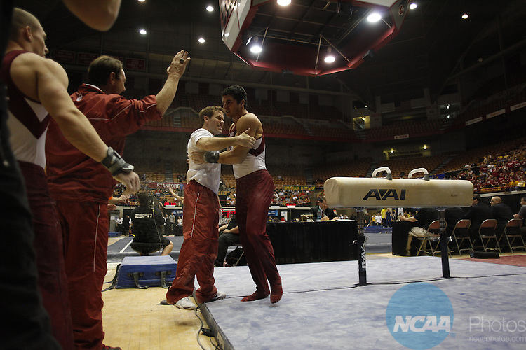 15 APR 2011:   Athletes compete during the Division I Men's Gymnastics Championship held at St. John's Arena on the Ohio State University campus in Columbus, OH.  Jamie Schwaberow/NCAA Photos