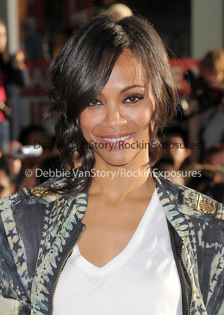 "Zoe Saldana at The Marvel Studios Premiere of "" Captain America : The First Avenger ""  held at The El Capitan Theatre in Hollywood, California on July 19,2011                                                                               © 2011 DVS/Hollywood Press Agency"