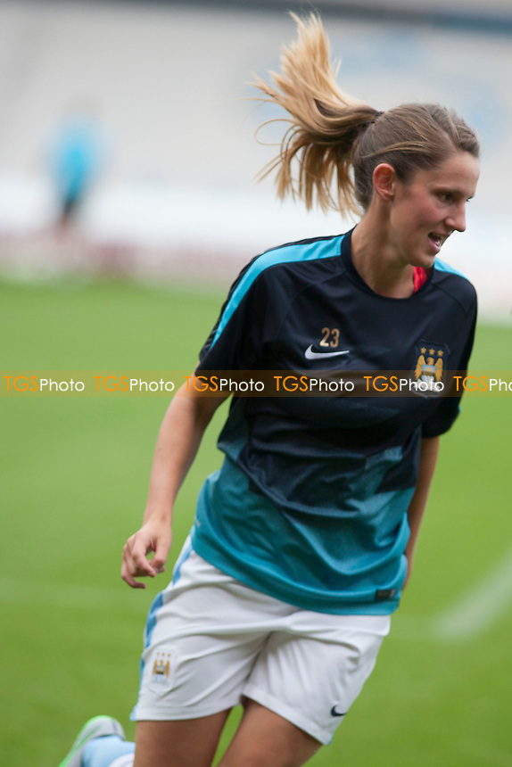 Abbie McManus (Man City Women)<br /> Doncaster Rovers Belles vs Manchester City Women, FA Womens Super League Continental Tyres Cup Football at the Keepmoat Stadium, Stadium Way, Doncaster, West Riding of Yorkshire on 23/07/2015 - MANDATORY CREDIT: Mark Hodsman/TGSPHOTO