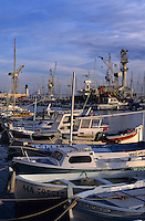 Boats moored in the marina at La Ciotat, Provence, France.