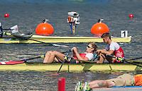 Rio de Janeiro. BRAZIL.   SUI M4X. right Roman ROEOESLI and Barnabe<br /> DELARZE, 2016 Olympic Rowing Regatta. Lagoa Stadium, Copacabana,  &ldquo;Olympic Summer Games&rdquo;Rodrigo de Freitas Lagoon, Lagoa. Local Time 12:53:30   Saturday  06/08/2016 <br /> <br /> [Mandatory Credit; Peter SPURRIER/Intersport Images]