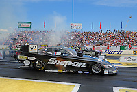 Jun. 2, 2012; Englishtown, NJ, USA: NHRA funny car driver Cruz Pedregon during qualifying for the Supernationals at Raceway Park. Mandatory Credit: Mark J. Rebilas-