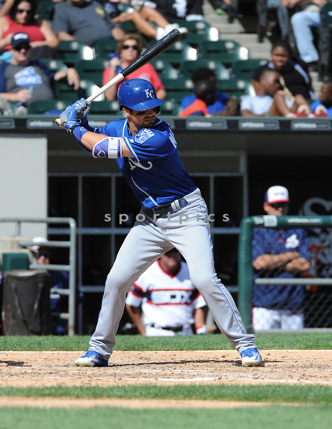 Kansas City Royals Whit Merrifield (15) during a game against the Chicago White Sox on September 11, 2016 at US Cellular Field in Chicago, IL. The Royals beat the White Sox 2-0.
