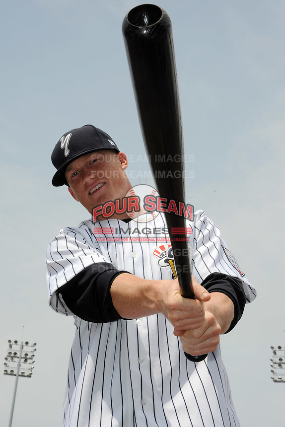 Staten Island Yankees catcher Nick McCoy (20) during first team workout at Richmond County Bank Ballpark at St. George in Staten Island, NY June 15, 2010.  Photo By Tomasso DeRosa/ Four Seam Images