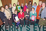 ICA Winners - Award winners in The ICA Betty Manning Trophy pictured at the Kerry ICA Federation Winter Meeting held in the Na Gael GAA Clubhouse were seated l/r Deidre Lynch representing Clochain Bre?anainn ICA (3rd place), Sheila Sayers representing Derryquay ICA (Highly Recommended) Paula Taylor & Cait Lynch Co-Presidents Annascaul ICA (All Ireland Winners). Also pictured standing l/r were Mary Scanlon, Margaret Walsh, Eleanor Enright, Nuala O'Connor, Breda Browne, Anne Moss, Breda Baker, Liz O'Leary, Eili?s Griffin, Celia Cooke and Federation President Joann Lenehan .