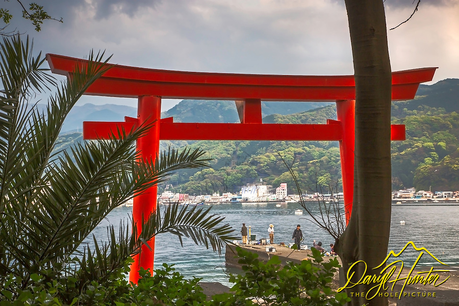 Torii Gate, Heda Port, fishermen, Izu Peninsula, Japan