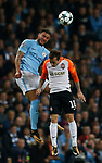 Kyle Walker of Manchester City challenges Bernard of Shaktar Donetsk during the Champions League Group F match at the Emirates Stadium, Manchester. Picture date: September 26th 2017. Picture credit should read: Andrew Yates/Sportimage